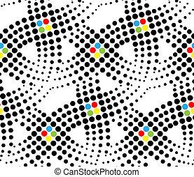 punkte, seamless, muster, vektor