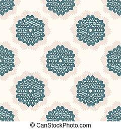 punkte, stil, 1950s, pattern., polka, seamless, llustration, vektor, retro, gezeichnet, doily, spitzenartig, gänseblümchen, spitze