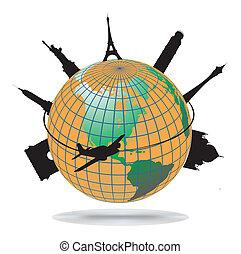 punkty orientacyjny, świat