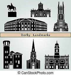 punkty orientacyjny, derby, pomniki