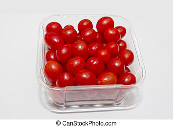 Punnet of cherry tomatoes - A cherry tomato is a very small ...