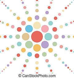 punt, abstract, pastel, seamless, bloem