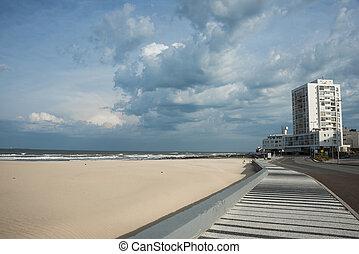 punta, ウルグアイ, este, 海岸, 大西洋, del, 浜