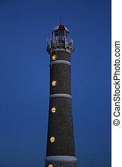 punta, 灯台, este, jose, ウルグアイ, ignacio, del, 夜, 大西洋沿岸