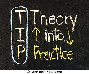 punta, acronimo, per, teoria, in, pratica