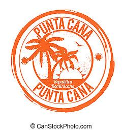 Punta Cana stamp - Punta Cana grunge rubber stamp on white, ...