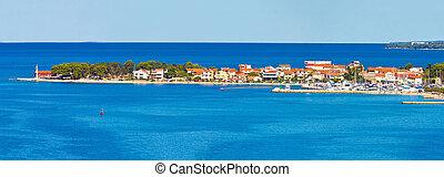 puntamiika, balkanhalvøen, i, zadar, antenne, panorama