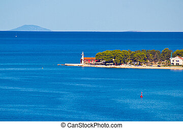 Puntamika lighthouse of Zadar aerial view