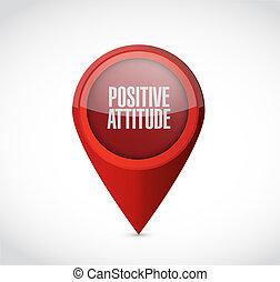 puntatore, atteggiamento, segno, positivo, concetto