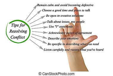 punte, per, risolvere, conflitto