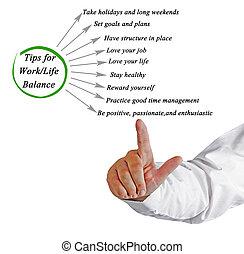 punte, per, work/life, equilibrio