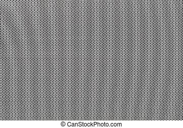 punten, geperforeerde, witte , metaal, achtergrond