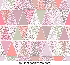 punten, model, seamless, driehoek