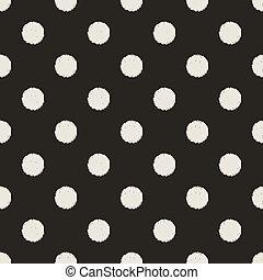 punten, model, seamless, polka
