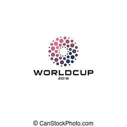 punten, ongewoon, illustration., worldcup, zon, abstract, vrijstaand, embleem, vector, etiket, logo, icon., mal, logotype, circulaire