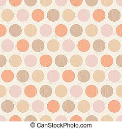 punten, polka, seamless, textuur, retro