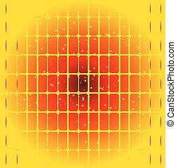 punten, rooster achtergrond, vector, gele