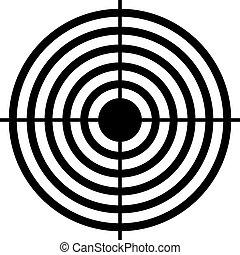 puntería, objetivo que dispara, icono
