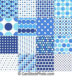 punti, cerchio, polka, seamless