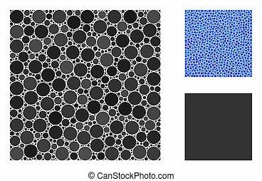 punti, cerchio, quadrato, pieno, icona, composizione