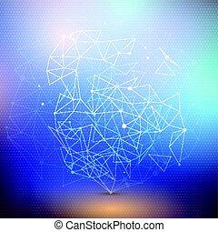 Punti, disegno, Connettere, basso,  poly