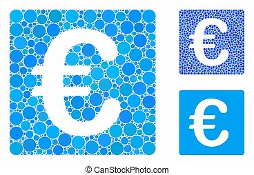 punti, euro, cerchio, mosaico, finanziario, icona