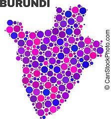 punti, mappa, burundi, cerchio, mosaico