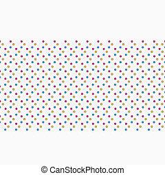 punti, modello, seamless, colorito