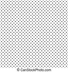 punti, nero, seamless, polka, bianco