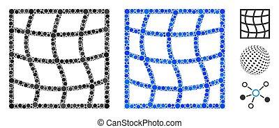 punti, rotondo, icona, mosaico, maglia