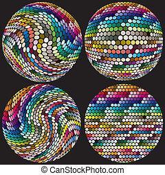 punti, sfere, artistico
