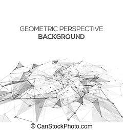 Punti, struttura, scienza, Estratto, linee,  poly,  polygonal, fondo, collegamento, vettore, Connettere, prospettiva, fondo, basso