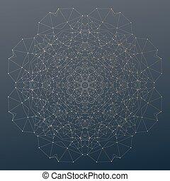 Punti, struttura, scienza, Estratto,  poly,  polygonal, linee, collegamento, vettore, Connettere, basso, fondo, digitale, o, fondale
