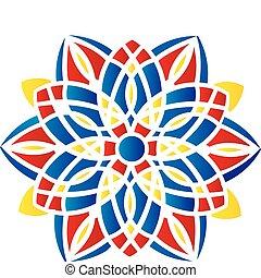 puntiagudo, patrón, brillante, resumen, -, simétrico, ...