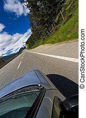 punto, conducción, vista