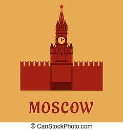 punto di riferimento, appartamento, mosca, simbolo, cremlino