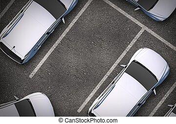 punto, estacionamiento libre