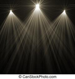 punto, iluminación, etapa