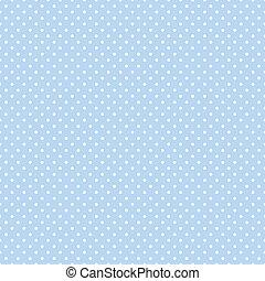 puntos, azul, pastel, seamless, polca