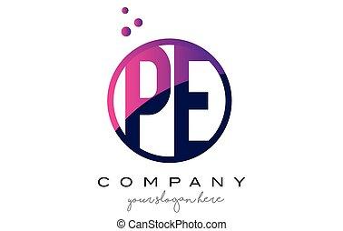 puntos, e, púrpura, p, diseño, carta, pe, logotipo, círculo,...