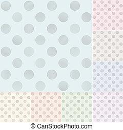 puntos, pastel, polca, seamless, patrón