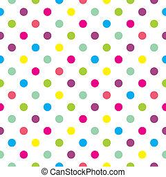 puntos, pastel, vector, polca, plano de fondo
