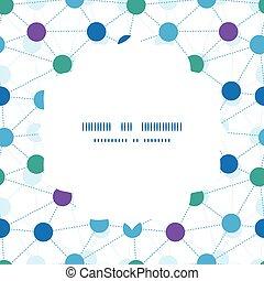 puntos, patrón, marco, seamless, vector, conectado, plano de...