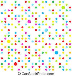 puntos, patrón, seamless
