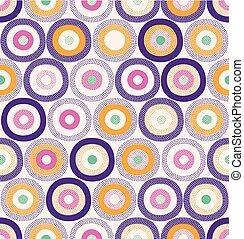 puntos, patrón, superficie, puntos, diseño, y, seamless, ...