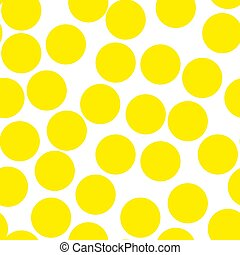 puntos, polca, seamless, amarillo, acuarela, textura