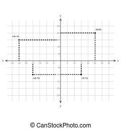 puntos, x, graphing, vector, y