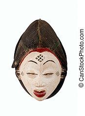 Punu female African mask