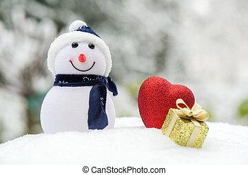 pupazzo di neve, esterno