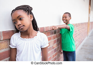 pupil, bullying, een ander, in, de, zaal
